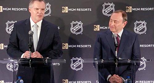 NHL Commssioner Gary Bettman and MGM Resorts Chairman and CEO Jim Murren