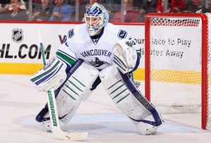 NHL goaltender Cory Schneider displaying the proper way to position your skates
