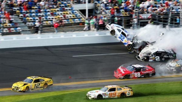 Fiery NASCAR crash at Daytona in 2013