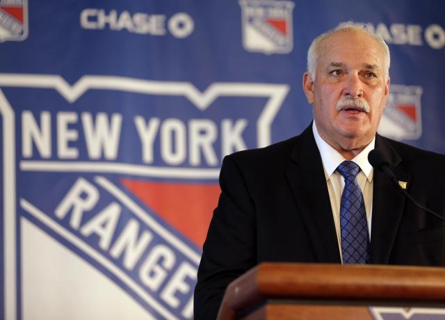 John Davidson, former New York Rangers president. (from Blue Seat Blogs)