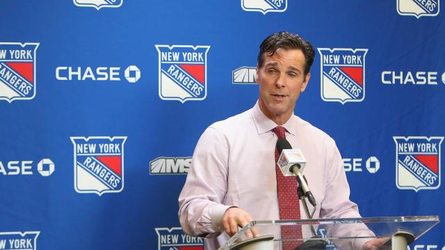 David Quinn, former New York Rangers head coach. (Getty Images, via CBS Sports)