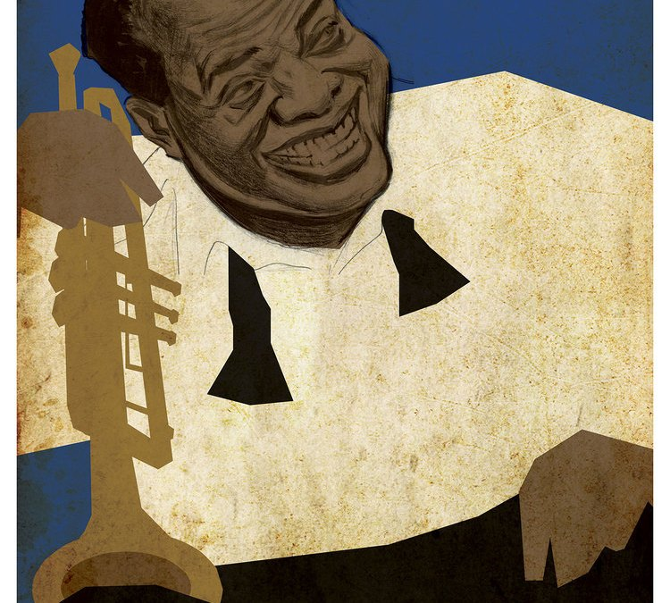 Louis Armstrong Illustration