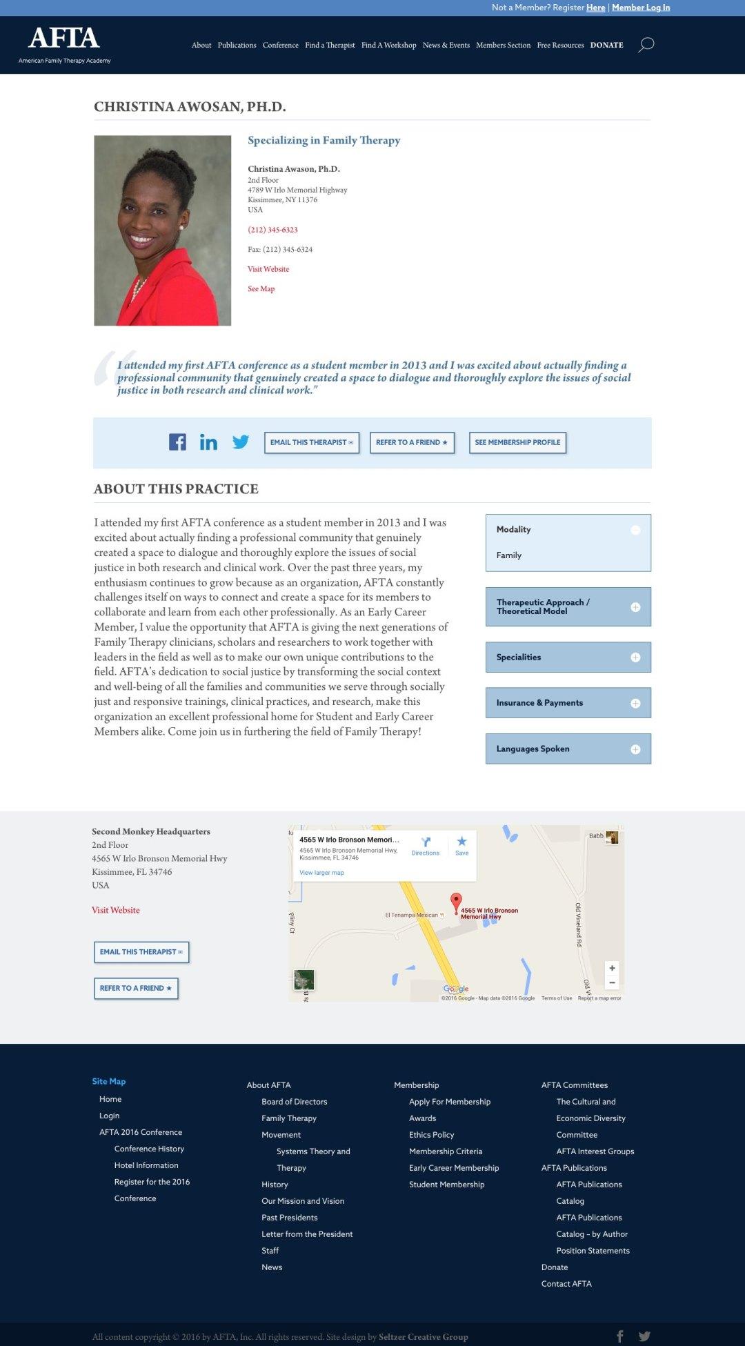 AFTA Profile Page