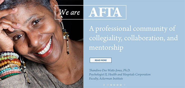 American Family Therapy Association Web Design