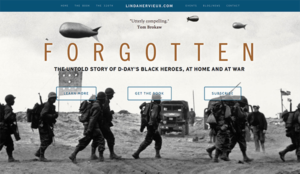 Forgotten / Linda Hervieux Web Design