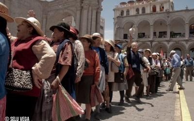 Manifestación Fonavistas 2008 En la ciudad de Arequipa, Perú