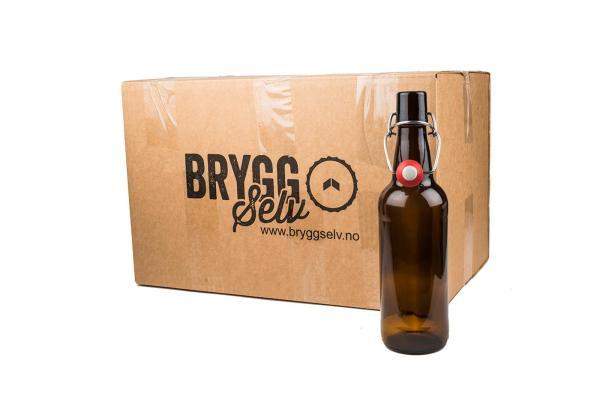 24 stk 0,25L flasker med patentkork
