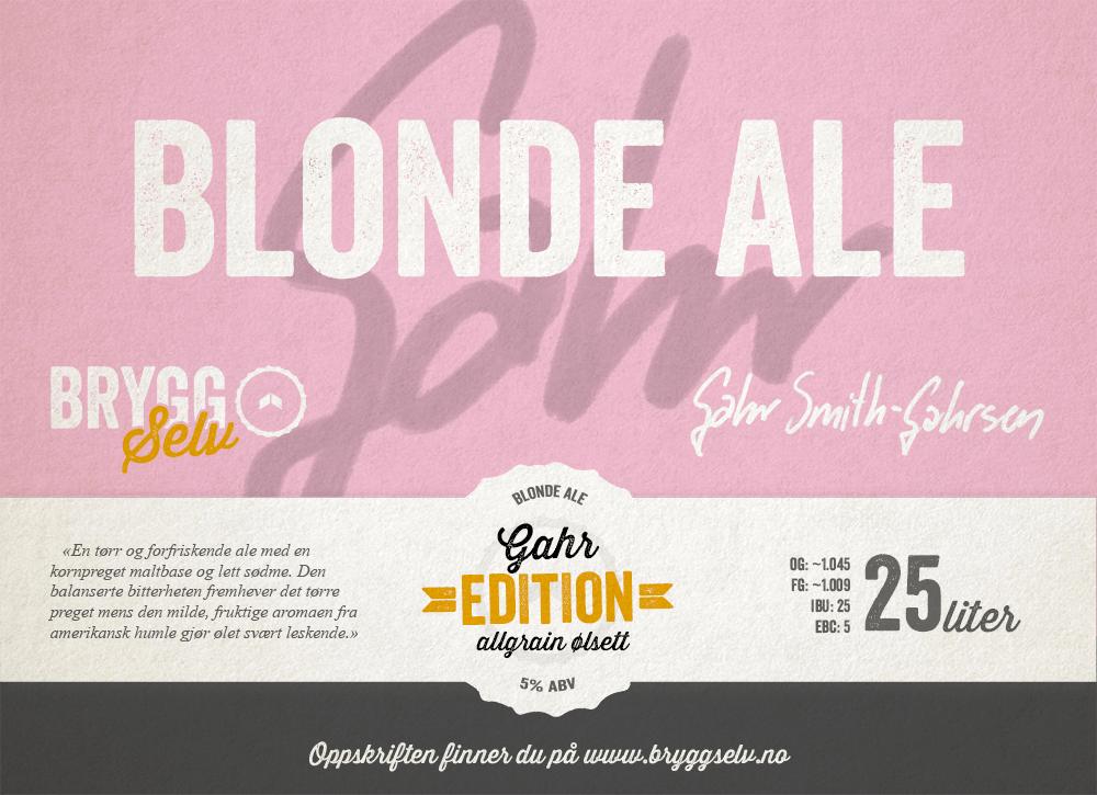 Blond Ale All Grain Ølsett