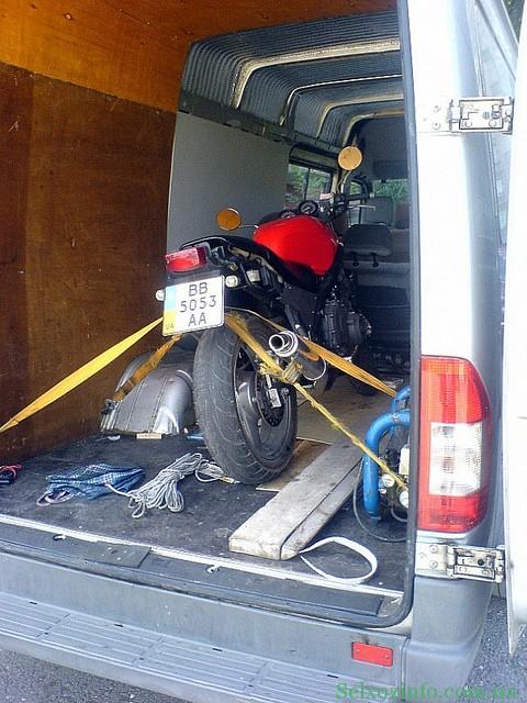 Буксировка мотоцикла после поломки генератора