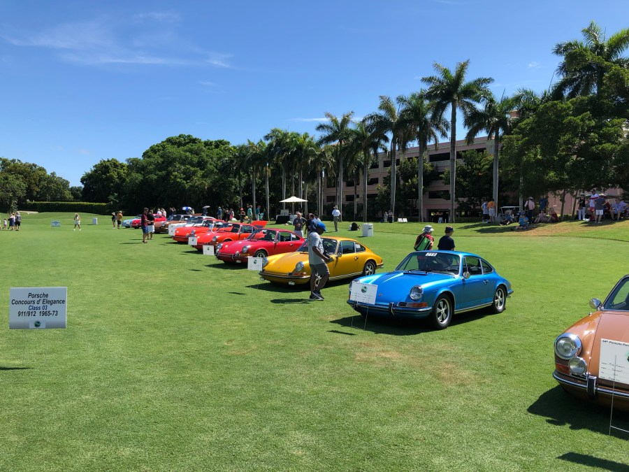 The Concours judging field
