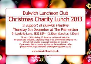 Dulwich Charity Lunch Invite