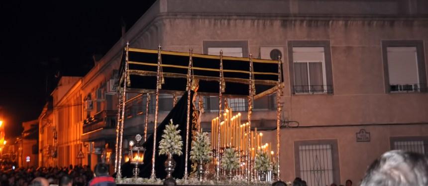 Foto del paso de palio de la Virgen de los Salud en su Soledad