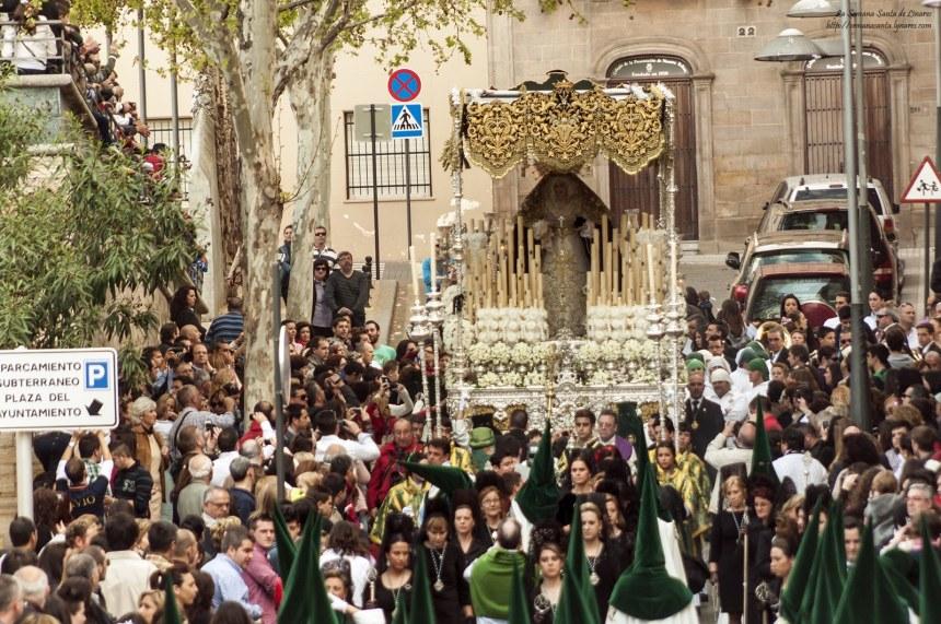 La Semana Santa es la época más fuerte del año para los hoteles de Linares | Foto del paso de palio de Ntra. Sra. de Gracia
