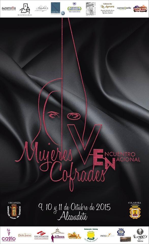 Cartel del V Encuentro Nacional de Mujeres Cofrades en Alcaudete