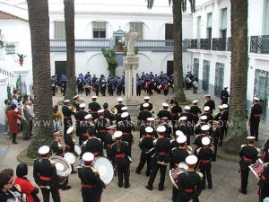 patio del convento hermanas de la cruz jerez de los caballeros agrupacion musical maestro sousa