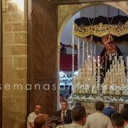 entrada de la virgen de los dolores en san miguel jerez de los caballeros semana santa