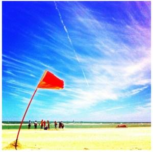 Semaphore Beach and Flag