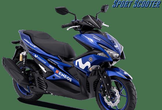 Yamaha Aerox 155 2018 tipe R livery movistar terbaru