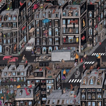Guillaume Cornet, Parisian Neighbourhood, detalle