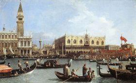 Canaletto, El regreso del Bucintoro en la fiesta de la Ascención