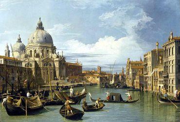 Canaletto, El Gran Canal y la Iglesia de la Salute