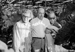 Junto a Burle Marx y V. de Moraes en Barra da Guaratiba