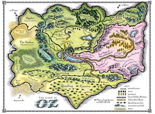 Mapa del País de Oz