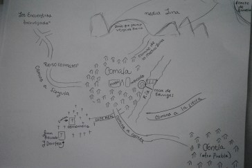 Mapa de Comala, Juan Rulfo