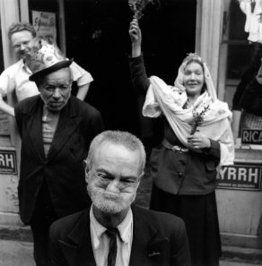 Robert Doisneau, Coronation of the queen of the bells, Paris, France in 1953