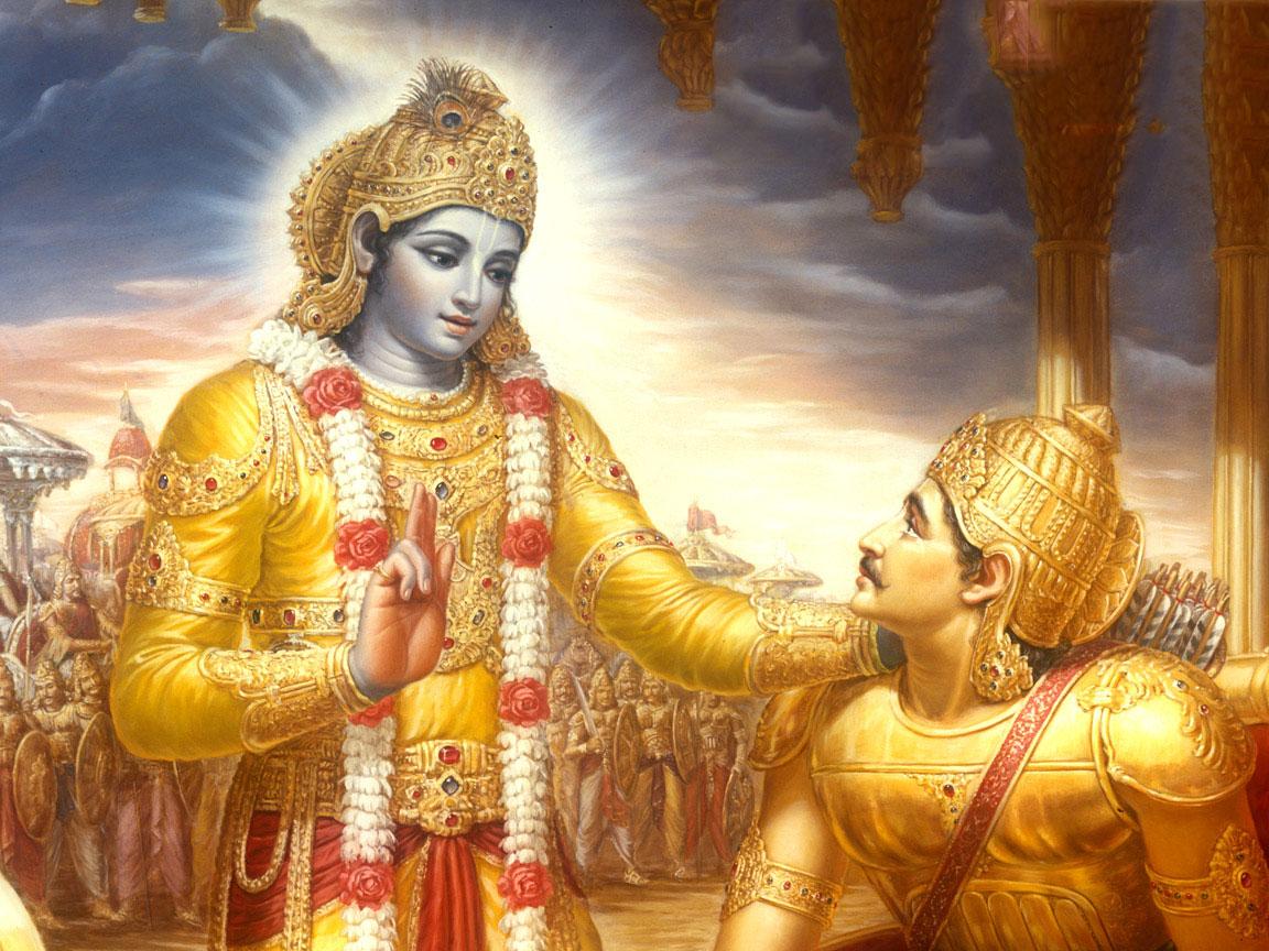 Krishna e Arjuna ensinamentos sobre Dharma.