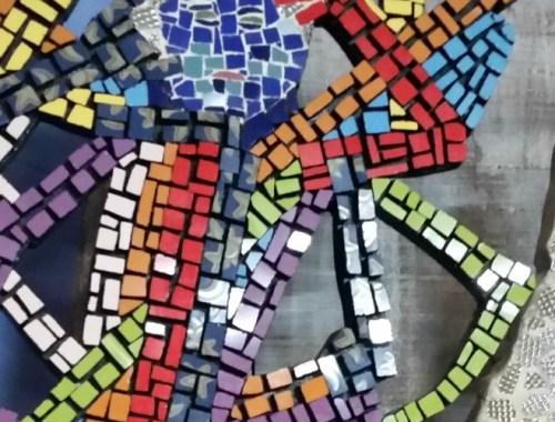 esculturas en mosaicos