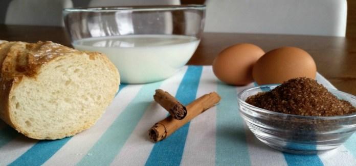 Ingredientes torrijas
