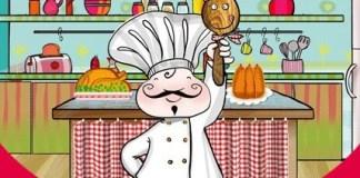 Dibujo cocinero Taller en familia Little Chef