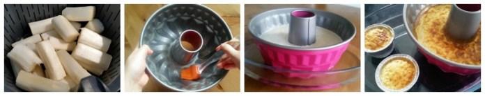 proceso de preparación flan de espárragos blancos de Tudela