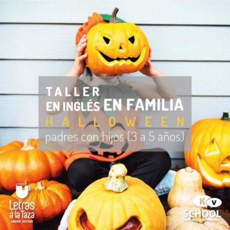 Cartel taller de Halloween