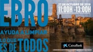Cartel limpieza del Ebro en Tudela