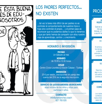 Cartel Padres Perfectos Octubre 2018 Taller en Tudela