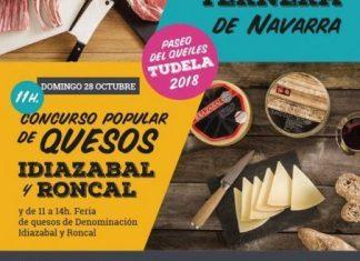 Cartel cordero y Queso de Navarra en Tudela