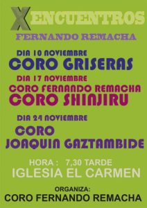 Cartel Coros Fernando Remacha