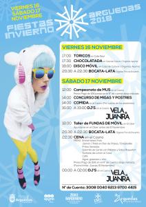 Cartel Fiestas de Invierno en Arguedas 2018