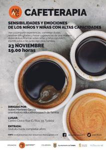 Cartel Cafeterapia en Tudela ANAC