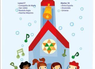 Cartel del Festival de villancicos 2018 de Tudela que organiza la Orden del Volatín en Jesuitas