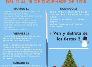 Cartel de las Fiestas de la Esperanza en Valtierra 2018