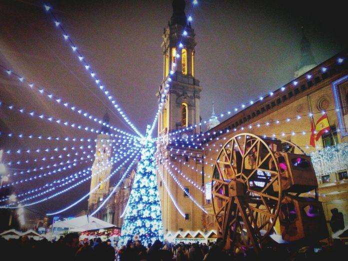 Mercadillo navideño en Zaragoza
