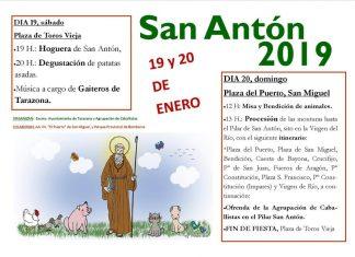 Hogueras y tradición en las fiestas de San Antón 2019 en Tarazona