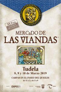 Cartel mercado Viandas tudela 2019