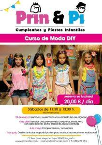 Cartel Curso de Moda DIY en Logroño