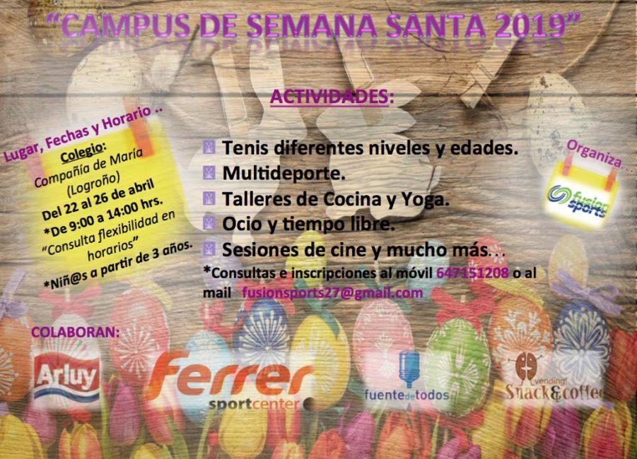 Cartel Ludoteca Semana Santa Logroño