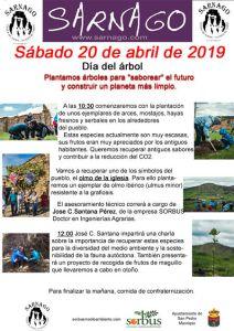 Cartel arbol Sarnago 2019