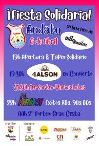 Cartel Fiesta solidaria Andatu